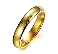 Women's Stainless Steel Ring Titanium Gilded Golden Plated Rings