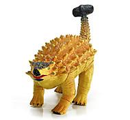 ankylosaur montagem de borracha modelo de dinossauro figuras de ação educacional brinquedo (ouro)