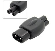 IEC 320 C8 Plug to C5 Receptacle Cloverleaf Power Supply Mains Adapter Convertor