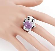 Cute Owl Case Metal Analog Quartz Ring Watch(1Pc)