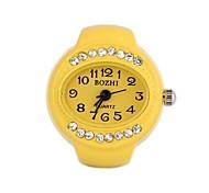Metal Analog Quartz Ring Watch (1Pc)