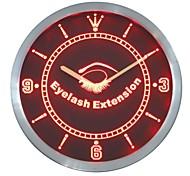 Wimpernverlängerung Beauty-Salon Leuchtreklame LED-Wand-Uhr