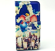 Flying Elephant Cartoon PU Leather Case with Card Holder for Samsung Galaxy S4 Mini I9190