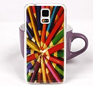 Beautiful Pencil Pattern PC Back Case for Samsung S5/I9600