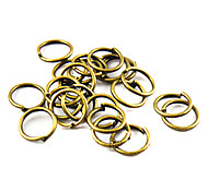 Belle main ronde bronze bricolage accessoires de bracelet en alliage de 4mm cru (1000 pcs)