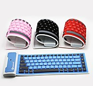 1PC Roll Up Waterproof Silicone Bluetooth Keyboard for iPad and Samsung Tablet And Smart Phones