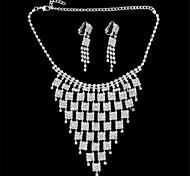 Women's Alloy/Rhinestone Jewelry Set Non Stone