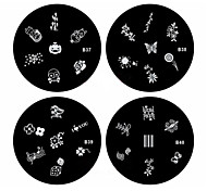 1pcs nail art carimbo de carimbar imagem modelo de placa b série no.37-40 (padrão assorted)