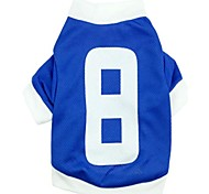 Прохладный майка № 8 Стиль Хлопок T-Shirt для Собаки (ассорти Размер)