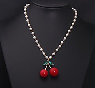 Women's Fashion Cherry Pearl Necklace