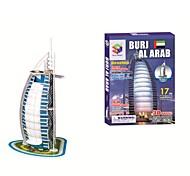Famoso Building Model Burj al Arab puzzle tridimensionale puzzle DIY Toys 3D per cChildren e adulti Jigsaw Puzzle (17PCS, B668-1)