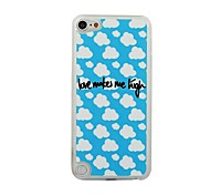 Blue Sky and White Cloud Leather Vein Pattern PC Hard Case for iPod touch 5