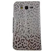 Leopard color Estéreo Wave bonita del modelo de la PU Leather Case cuerpo completo con soporte para Samsung Galaxy Gran I9080/I9082
