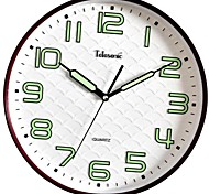 """Telesonic™ 13""""H  Brief Style Wave Background Noctilucous Scale Mute Wall Clock"""