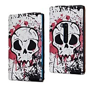 White Skull Pattern PU Leather Full Body Case for Nokia Lumia 920/N920