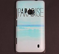 PARADISE Letter Printed and Ocean Pattern PC Hard Case for N520