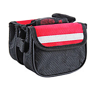 NUCKILY 600D Red Bicycle Frame Bag with Mobile Phone Bag