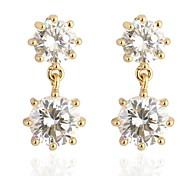 novo ouro das mulheres banhado venda quente em volta do anel zircão elegante