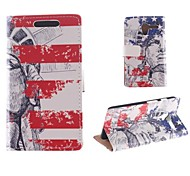 Design of The Statue of Liberty PU Full Body Case with Card Slot for Motorola MOTO X