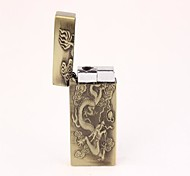 Environmental Protection Electronic Military Alloy Relief Square Charging Wind Cigarette Lighter
