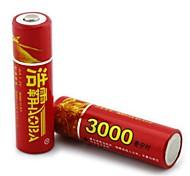 haomba 1.2v 3000mah aa batería recargable NiMH