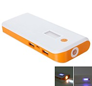 Universal DH-X10 8000mAh  Screen Display Flashlight External Battery Assorted Colors for Mobile Devices