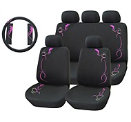 12 PCS Dolphin Car Seat Cover Set universale Fit Materiale Poliestere + coperchio volante + Car Seat Tracolla