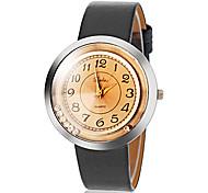 Vintage Brown des femmes Dial PU bande de montre bracelet à quartz (couleurs assorties)