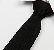 moda nero cravatta in maglia uomini