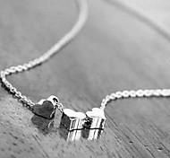 europeo (cadena con tres corazones) de oro, collar pendiente de la aleación de plata (oro, plata) (1 pc)