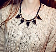 Lureme®Fashion Small Triangle Geometry Cord Necklace