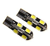 T10 3W 12x5730SMD 150-180LM Cool White Light LED Bulb for Car (DC 12V)
