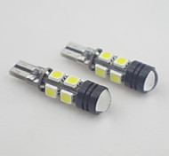 t10 3.5W 8x5050 SMD luce bianca ha condotto la lampadina per la lampada del segnale CANBUS (12v, 1 coppia)