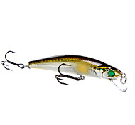 Hard Bait 80mm/7g Slowly Sinking Light-Gold Fishing Lure Pack