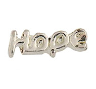 20PCS Fashion Alloy HOPE Pattern Floating Charms For Memory Living Locket(83 PCS Per Package)