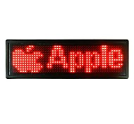 USB Rechargeable Advertising Scrolling Board Message Name Badge Sign 576-LED B1248R 12*48 Dots