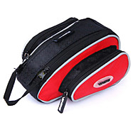 VSHENG Red Triangle Cycling Bicycle Front Tube Bag