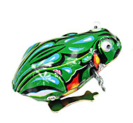 Handcrafted Nostalgic Metal Spring Frogs Tin Toy (Blue)