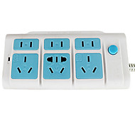 HAIMIAO HM-XA26  Power Strips with 6 Plugged For Family (1.8m)