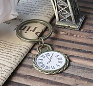 Vintage Number Clock Bronze Alloy Keychain(1 Pc)
