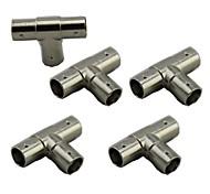 5pcs BNC 3 WAY Female  Adapter Connectors BNC FeMale to Two Female Coaxial T-Adapter Connector
