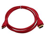 1.4V MINI HDMI Cable MINI HDMI Male to HDMI Male Gilded Red Line