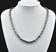 Toonykelly® Fashion Men's Antique Silver Stainless Steel Necklace(1PC)
