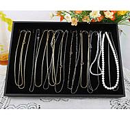 classico grande formato della collana di stand di gioielli contenitori di monili di carta nera di flanella (1 pc)