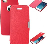 VORMOR® Flip PU Leather Magnetic Hard Case for iPhone 4/4S (Red)
