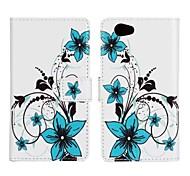 PU Leather Flower Pattern Case fo Sony Z1 mini