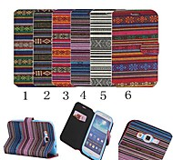 Colorful Stripe Style PU Leather Full Body Case with Stand for Samsung Galaxy Grand I9082 (Assorted Colors)