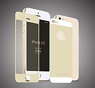 Angibabe Colorful Tempered Glass Film Guard Set with Cleaning Cloth for iPhone 5/5S (Assorted Colors)