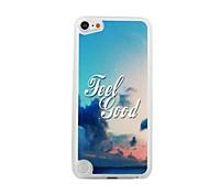 Das Meer und Wolken Leder Vene Muster PC Hard Case für iPod Touch 5