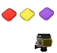 G-540C  PC Under Sea Filter Covers Set for Gopro Hero 3